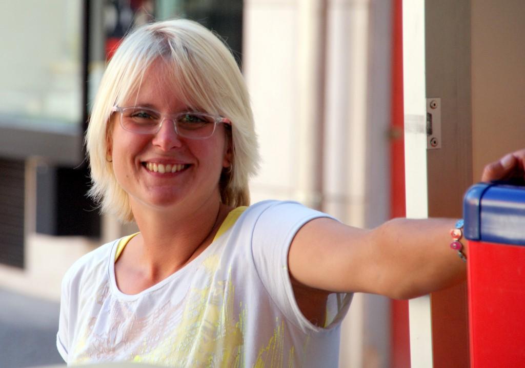 Lisa Fleichaus, die Chefin der Tourist-Information Wassertrüdingen