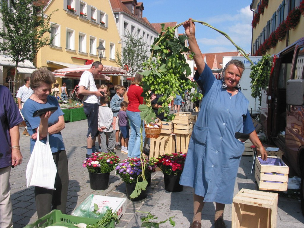 Markttag in Gunzenhausen: Donnerstags pulsiert das Geschäft.