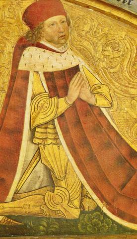 In der Ansbacher Schwanenritterkapelle (St. Gumpert) ist Markgraf Albrecht Achilles zu sehen.